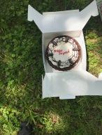 Elliott and Ryan scored a FREE ICE CREAM CAKE for us.