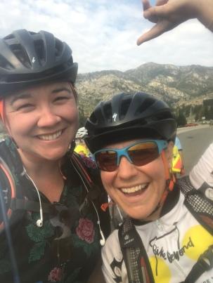 Last big climb. We totally killed the record.