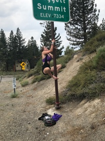 Sierra just climbed the Sierra's and now this pole.